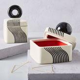 west elm Mod Black + White Ceramic Boxes