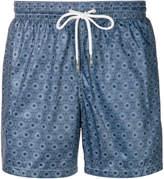 Eleventy geometric print swim shorts