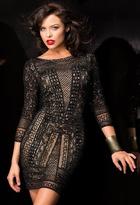 Scala 48377ML Dress In Black/Nude
