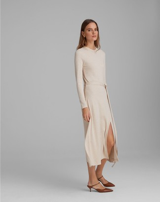 Club Monaco Long-Sleeve Rib-Knit Dress