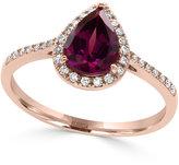 Effy Rhodolite Garnet (1 ct. t.w.) and Diamond (1/8 ct. t.w.) Ring in 14k Rose Gold
