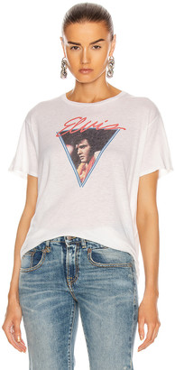 R 13 Vegas Elvis Boy Tee in Dirty White | FWRD