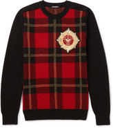 Balmain - Appliquéd Intarsia Wool-blend Sweater
