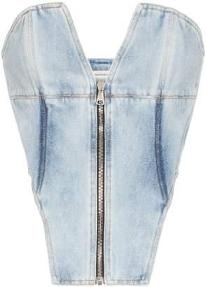 Natasha Zinko zipped denim corset
