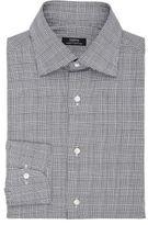 Fairfax Men's Glen Plaid Cotton Shirt-BLACK