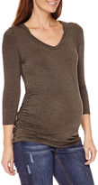 Asstd National Brand Planet Motherhood Maternity Long-Sleeve Hooded Knit Tee