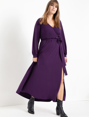 ELOQUII Wrap Maxi Dress