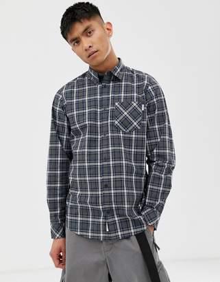 Carhartt Wip Leroy long sleeve shirt-Navy