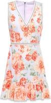 Alice + Olivia Kirean Ruffled Floral-print Stretch-cotton Mini Dress