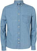 J. Lindeberg Dani Long Sleeve Chambray Shirt, Light Indigo