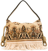 Loewe Flamenco flap tapestry bag - women - Cotton/Leather - One Size