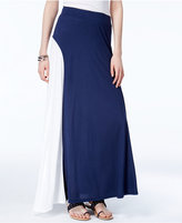 INC International Concepts Colorblocked Maxi Skirt, Created for Macy's