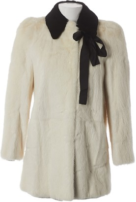 Louis Vuitton \N Ecru Mink Coats