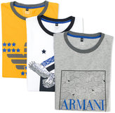 Armani Junior printed T-shirt - kids - Cotton - 14 yrs
