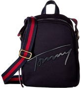 Tommy Hilfiger Tommy Script Mini Crossbody Backpack Canvas