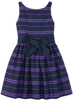 Polo Ralph Lauren Cotton Sateen Fit and Flare Dress (Big Kids)