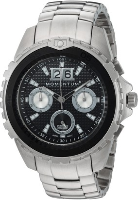Momentum Men's D6 Chrono Japanese-Quartz Diving Watch with Stainless-Steel Strap Grey 22 (Model: 1M-DV22B0)