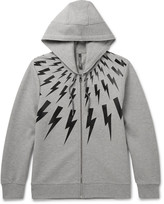 Neil Barrett Bonded Jersey Zip-Up Hoodie