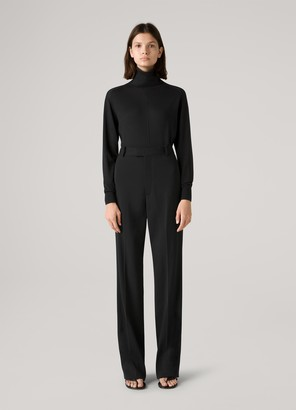 St. John Silk and Cashmere Jersey Turtleneck Sweater