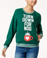 Mighty Fine DOE Juniors' Turn Down For Nog Raglan Sweatshirt