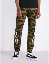 A Bathing Ape 1st camo shark-print cotton trousers