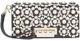 Zac Posen flower embellished clutch - women - Calf Leather - One Size