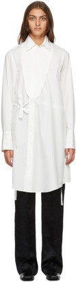 Ann Demeulemeester White Asymmetric Olda Short Dress