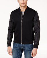 INC International Concepts Men's Mixed Media Bomber Jacket, Created for Macy's