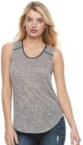 Juicy Couture Women's Marled Scoopneck Tank