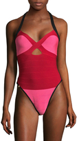 Herve Leger Veronika One Piece Swimsuit