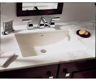 American Standard Studio Ceramic Rectangular Undermount Bathroom Sink with Overflow American Standard Sink Color: White