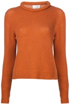 3.1 Phillip Lim cropped waffle knit pullover