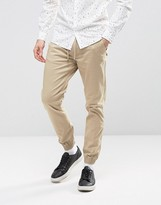 Selected Homme Cuffed Chinos With Drawstring Waist