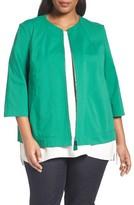 Lafayette 148 New York Plus Size Women's Levine Cotton Blend Jacket
