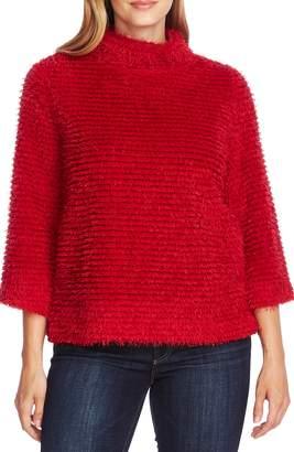 Vince Camuto Eyelash Fringe Stripe Sweater