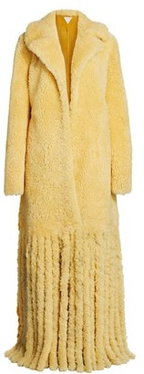 Bottega Veneta Long Shearling Fringe Coat