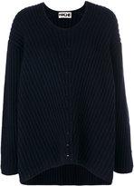 Hache U-neck ribbed sweater - women - Cashmere/Wool - 40