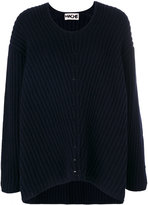 Hache U-neck ribbed sweater