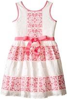 Us Angels Sleeveless Lace Dress w/ Cut Out Back & Skirt (Big Kids)