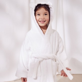 The White Company Hydrocotton Robe with Ears (1-5yrs), White, 2-3yrs
