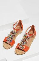 BCBGMAXAZRIA Delfina Pom-Pom T-Strap Sandal
