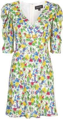 Saloni Colette floral print dress