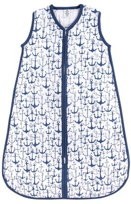Yoga Sprout Baby Boy and Girl Muslin Sleeping Bag, Blue Anchor, 12-18 Months