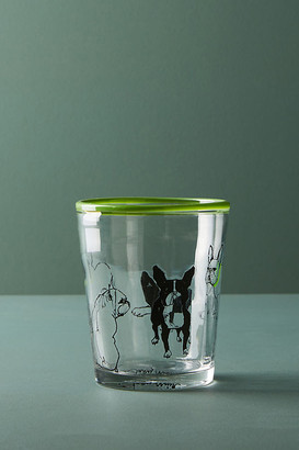 Sally Muir Dog-a-Day Juice Glass By Sally Muir in Green Size JUICE