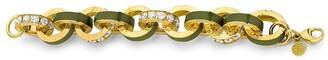 BUDDHA MAMA 20kt Yellow Gold Diamond Big Link Bracelet