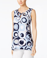 Alfani Printed Grommet Top, Only at Macy's