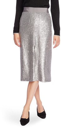 Court And Rowe Slit Front Sequin Pencil Skirt