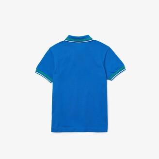Lacoste Boys' Contrast Detail Cotton Pique Polo