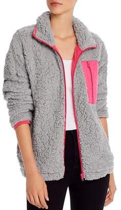 Aqua Sherpa Faux Fur Jacket - 100% Exclusive