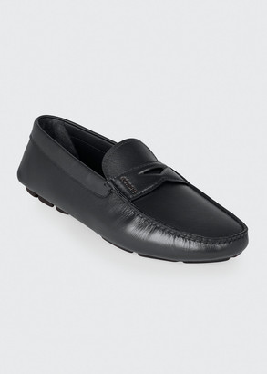 Prada Men's Saffiano Leather Penny Drivers